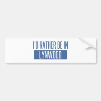 Adesivo De Para-choque Eu preferencialmente estaria em Lynwood