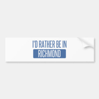 Adesivo De Para-choque Eu preferencialmente estaria em Richmond VA