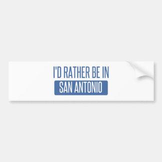 Adesivo De Para-choque Eu preferencialmente estaria em San Antonio