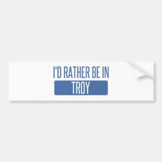 Adesivo De Para-choque Eu preferencialmente estaria em Troy NY