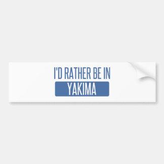 Adesivo De Para-choque Eu preferencialmente estaria em Yakima