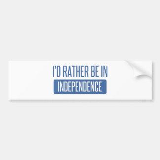 Adesivo De Para-choque Eu preferencialmente estaria na independência
