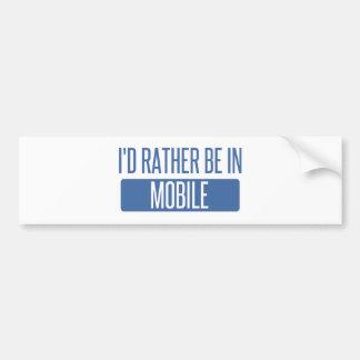 Adesivo De Para-choque Eu preferencialmente estaria no móbil