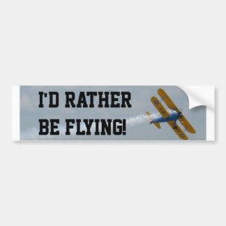 Adesivo De Para-choque Eu preferencialmente estaria voando
