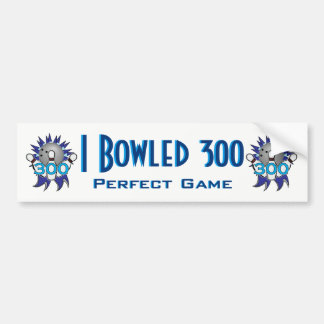 Adesivo De Para-choque Eu rolei o jogo 300 perfeito