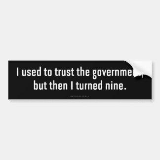 Adesivo De Para-choque Eu usei-me para confiar o governo