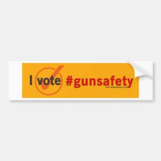 Adesivo De Para-choque Eu voto o bumpersticker da segurança da arma