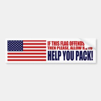 Adesivo De Para-choque EUA se esta bandeira o ofende