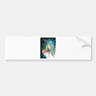 Adesivo De Para-choque Evergreen - retrato da aguarela