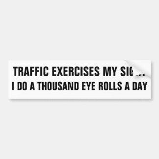Adesivo De Para-choque Exercício do tráfego mil olhos Rolls