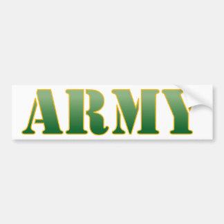 Adesivo De Para-choque Exército - texto verde