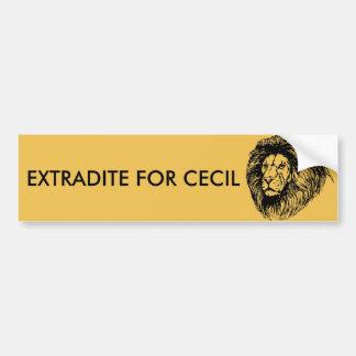 Adesivo De Para-choque Extradite para Cecil