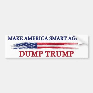 Adesivo De Para-choque Faça América Smart outra vez despejar o trunfo