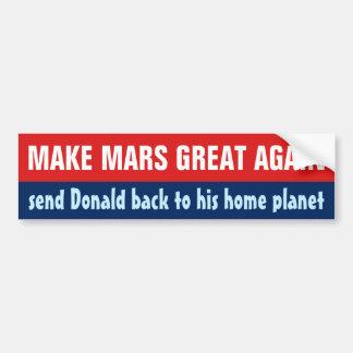 Adesivo De Para-choque Faça o excelente outra vez anti Donald Trump