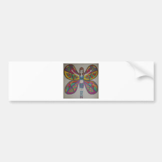 Adesivo De Para-choque Fada tribal da borboleta