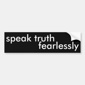 Adesivo De Para-choque fale a verdade fearlessly