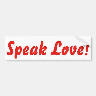 Adesivo De Para-choque Fale o amor! Etiqueta