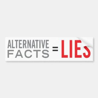 Adesivo De Para-choque Fatos = mentiras alternativos