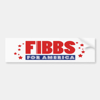 Adesivo De Para-choque FIBBS PARA o autocolante no vidro traseiro de