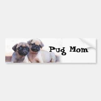 Adesivo De Para-choque Filhotes de cachorro do Pug