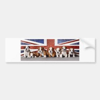 Adesivo De Para-choque Filhotes de cachorro ingleses do buldogue