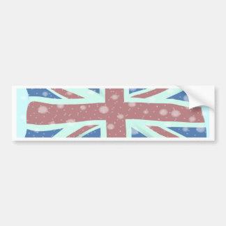 Adesivo De Para-choque Flocos de neve da bandeira de Union Jack