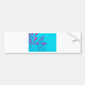 Adesivo De Para-choque Flor cor-de-rosa abstrata