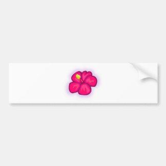 Adesivo De Para-choque Flor cor-de-rosa de Havaí