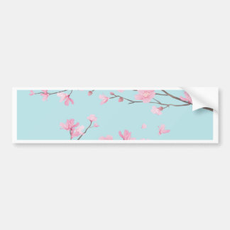 Adesivo De Para-choque Flor de cerejeira - azul-céu