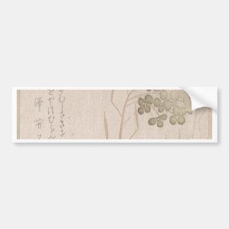 Adesivo De Para-choque Flor de Natane - origem japonesa - período de Edo