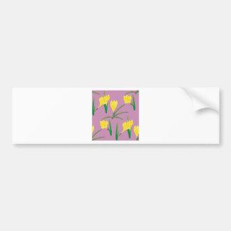 Adesivo De Para-choque Flores amarelas do açafrão