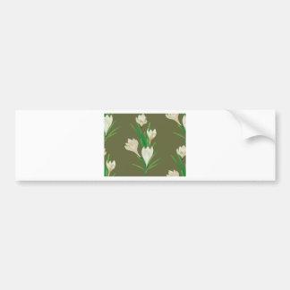 Adesivo De Para-choque Flores brancas 2 do açafrão
