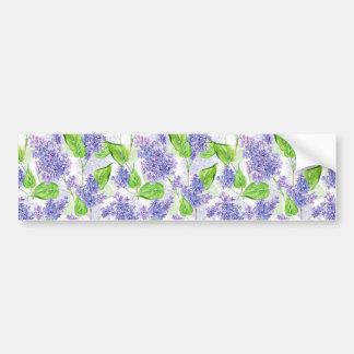 Adesivo De Para-choque Flores do lilac da aguarela