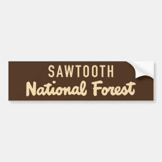 Adesivo De Para-choque Floresta nacional do Sawtooth