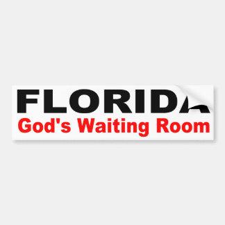 Adesivo De Para-choque FLORIDA, a sala de espera do deus