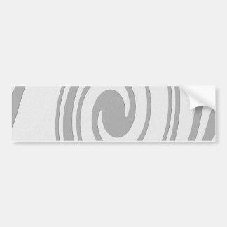 Adesivo De Para-choque Fluxo espiral cinzento do teste padrão esquerda