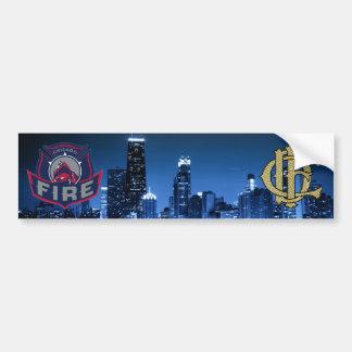 Adesivo De Para-choque Fogo de Chicago com skyline