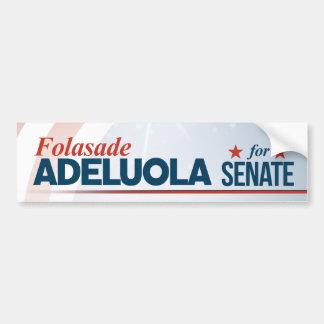 Adesivo De Para-choque Folasade Adeluola para o Senado