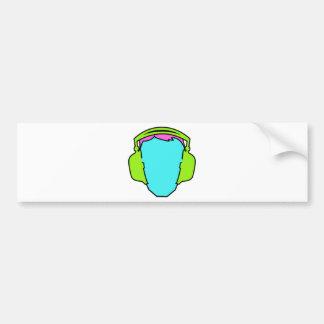 Adesivo De Para-choque Fones de ouvido vestindo-se coloridos