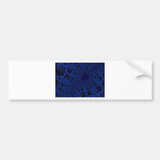 Adesivo De Para-choque Fractal azul elétrico