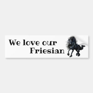 Adesivo De Para-choque Frisão, garanhão preto nós amamos nosso frisão