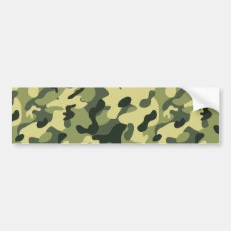Adesivo De Para-choque Fundo verde do teste padrão da camuflagem do preto
