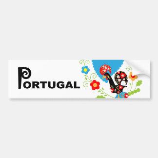 Adesivo De Para-choque Galo português do pára-choque da sorte