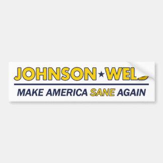 Adesivo De Para-choque Gary Johnson/autocolante no vidro traseiro
