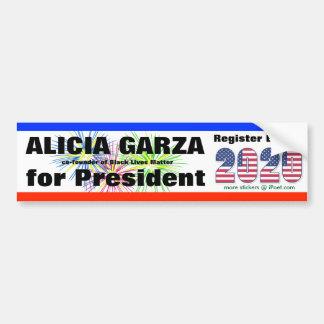 Adesivo De Para-choque GARZA de ALICIA PARA O PRESIDENTE em 2020 -