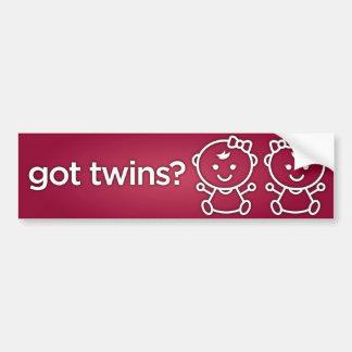 Adesivo De Para-choque Gêmeos obtidos? Autocolante no vidro traseiro do