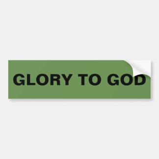 """Adesivo De Para-choque """"Glória autocolante no vidro traseiro ao deus"""""""