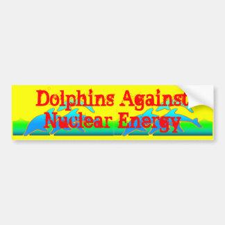 Adesivo De Para-choque Golfinhos contra Anti-Armas nucleares da energia