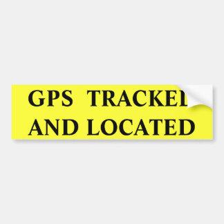 ADESIVO DE PARA-CHOQUE GPS SEGUIU LOCALIZADO
