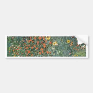 Adesivo De Para-choque Gustavo Klimt - flores dos girassóis do jardim do